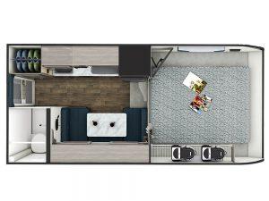 Plan d'étage - Lance 825 Truck Camper